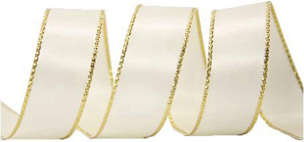 "Silver Edge 50 Yard  roll 100/% Polyester Many Color 1//4/"" 3//8/"" Satin Ribbon Gold"