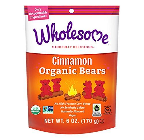 Wholesome Organic Cinnamon Bears, Gluten Free, Vegan, 12 ct. 2 oz.