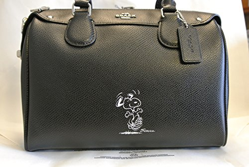 Authentic Coach Mini - Coach Snoopy Mini Bennet Satchel - Black