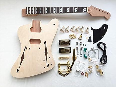 Semi-Hollow cuerpo Fb construir su propio Kit de guitarra: Amazon.es: Instrumentos musicales