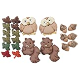 fall over target - Jesse James (2-Pack) Dress It Up Buttons Fall Collection #7948 Woodland Critters 7948-2P
