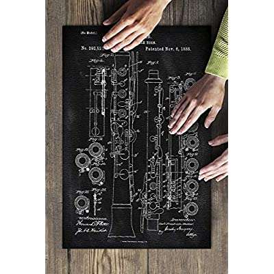 Blackboard Patent - Oboe (Premium 500 Piece Jigsaw Puzzle for Adults, 13x19, Made in USA!): Toys & Games