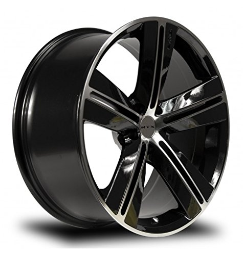 SMS, 17X7.5, 5X114.3, +40, 73.1, BLACK MACHINED SET OF 4 081084 by RTX (Image #1)