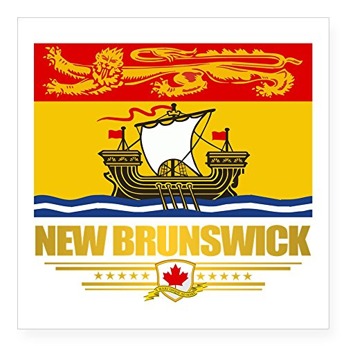 CafePress - New Brunswick Pride Sticker - Square Bumper Sticker Car Decal, 3