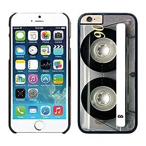 NEW DIY Unique Designed Case For Iphone 6 Clear Cassette iPhone 6 Black 4.7 TPU inch Phone Case 088