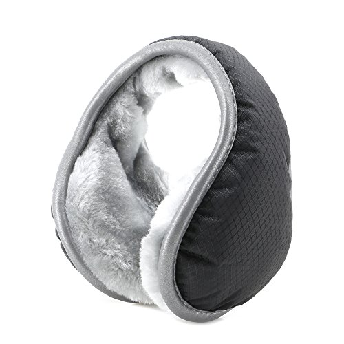 Metog Unisex Foldable Ear Warmers Polar Fleece Winter Earmuffs Waterproof