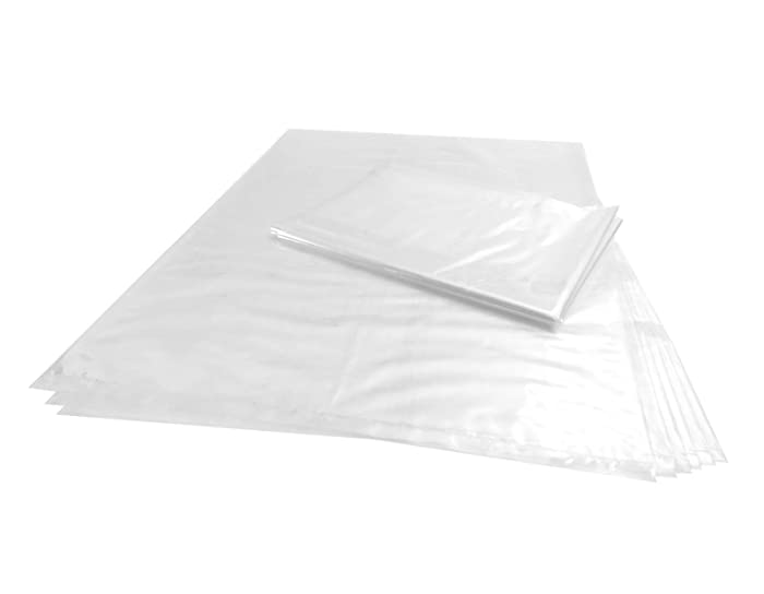 Wowfit 100 CT 12x18 inches 1 Mil Clear Plastic Flat Open Poly Bags Great for Proving Bread, Dough, Storage, Packaging and More (12 x 18 inches)