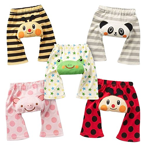 5-pack Animal Cartoon Baby PP Pants Boy Girl Infant Tights Trousers Clothes 0-2Years Old