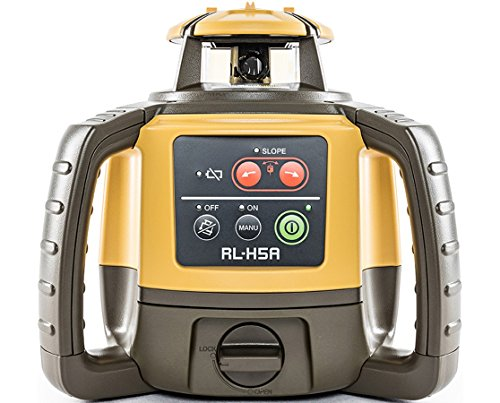 Topcon RL-H5A Horizontal Self-Leveling Rotary Laser with LS-80L Receiver - Dry Cell Battery - AdirPro Aluminum Tripod - 9' Grade Rod (8th') (Best Self Leveling Rotary Laser)