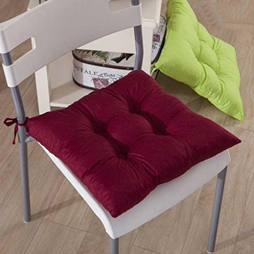 Gotd Indoor Garden Patio Home Kitchen Office Chair Pads Seat Pads Cushion (Red)