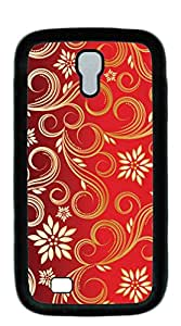 NBcase Golden Swirls Floral Pattern Hard PC case for samsung galaxy s4 for girls