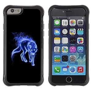 "Hypernova Defender Series TPU protection Cas Case Coque pour Apple iPhone 6+ Plus(5.5 inches) [Azul Místico Lobo""]"