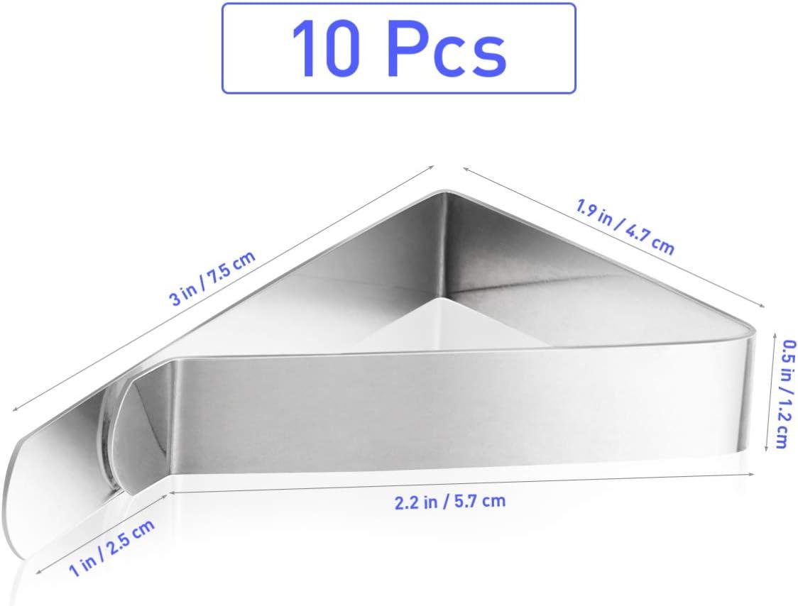 Balacoo Clips de Mantel Triángulo Abrazaderas de Cubierta de Mesa de Acero Inoxidable Soportes de Manteles Clips de Falda de Mesa para Restaurante Cocina en Casa: Amazon.es: Hogar