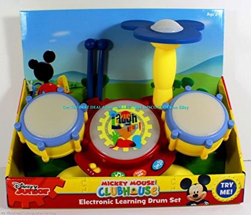 Disney Junior Mickey Mouse Clubhouse Electronic Learning Drum Set by Disney Junior