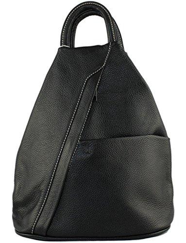 Daniela Moda Italian Leather Rucksack & Shoulder Bag Backpack