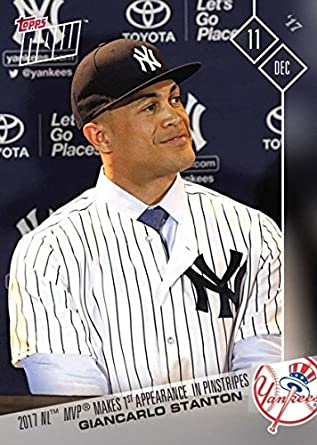 new arrival 11731 e9199 2017 Topps Now #OS-79 Giancarlo Stanton Baseball Card Wearing a New York  Yankees Jersey - Less Than 3,000 Made