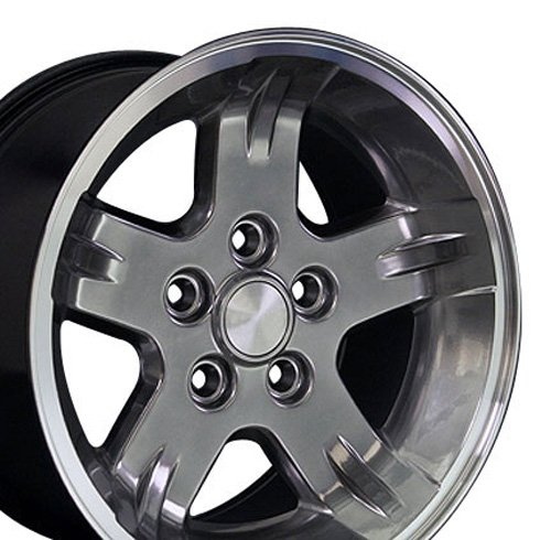 15x8 Wheels Fit Jeep Wrangler, Cherokee - Hyper Black w/Mach'd Lip Rims - SET
