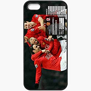 Personalized iPhone 5 5S Cell phone Case/Cover Skin 20 Manchester United Football Black