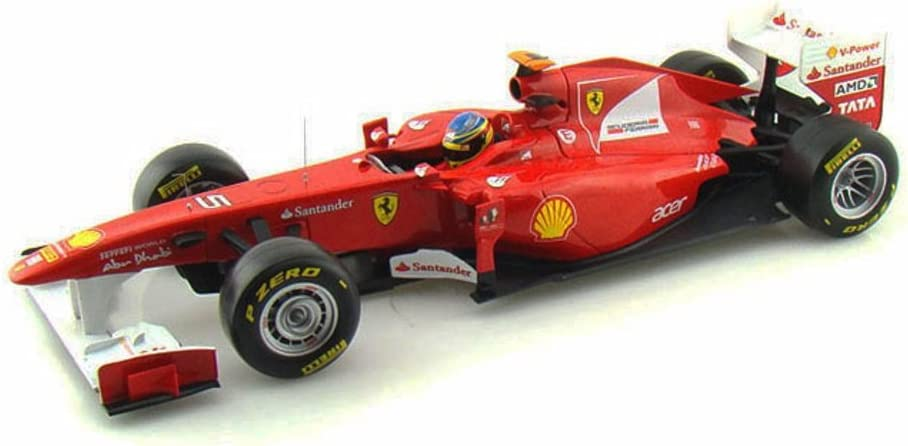 Amazon Com Mattel 2011 Ferrari 150 Italia F1 F Alonso 5 Red Hot Wheels W1073 1 18 Scale Diecast Model Toy Car Toys Games