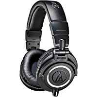 Audio-Technica ATH-M50x Professional Studio Monitor Headphones (Certified Refurbished)