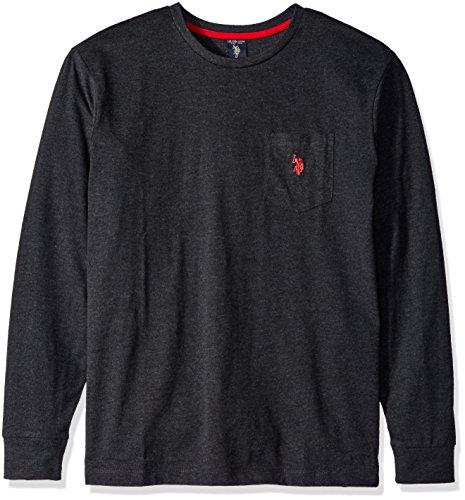U.S. Polo Assn. Mens Long Sleeve Crew Neck Pocket T-Shirt