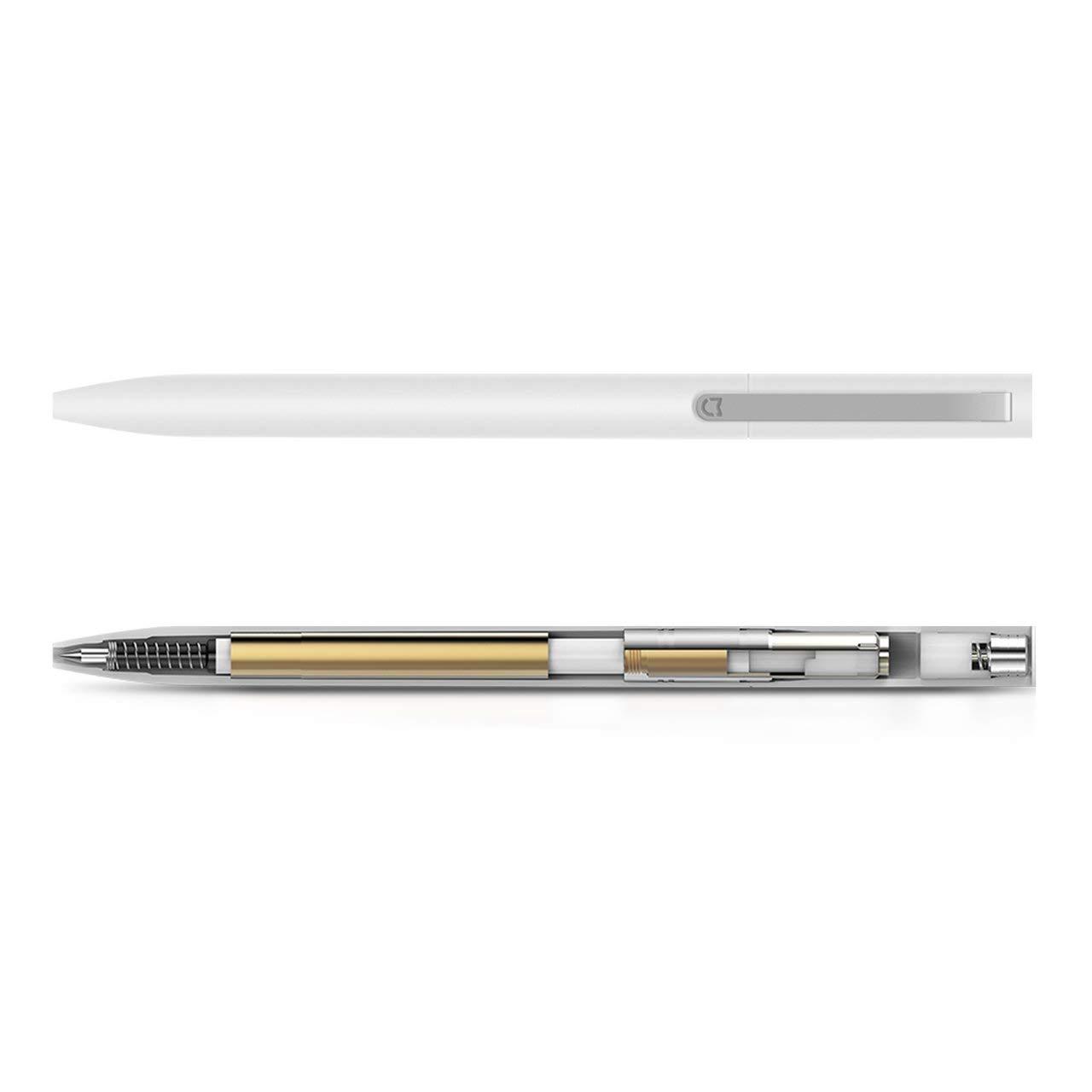 Bianco Jasnyfall Penne Xiaomi Mijia Universal Roller Durable Smooth Signing Pen con Disegno Retrattile e Ricaricabile Bianco