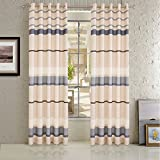 Cheap Cross Striped Curtains Living Room Drapes – KoTing Printing Geometric Patterns Window Curtains Grommet 1 Panel 50 inch Width 100 inch Length Extra Long