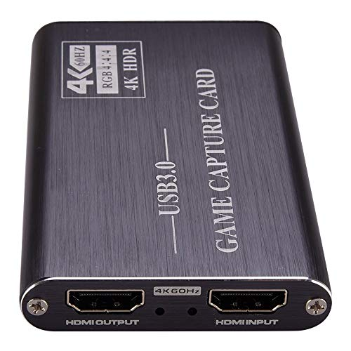 NK-S41 USB 3.0 to HDMI 4K HD Video Capture Card Device Easy to use (Color : Grey)