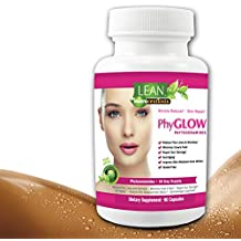 90 Capsules! 350 mg Phytoceramides Top Rated Gluten-Free All Natural Plant Derived PhyGLOW Skin Restoring, Anti-Aging Dermatologist Recommend Formula w/ Vitamins A,C,D,E NOW in 3-Month Supply by LEAN