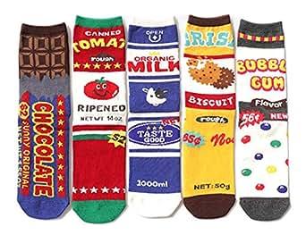 Moonsocks Women's Novelty Patterned Crew Socks, Cool Funny Colorful Ankle Socks