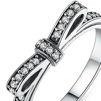 Amazon.com: Dixey Luxury Anillos Sortijas 18k de Compromiso Aniversario Matrimonio Boda Oro Plata Anel De Ouro Prata 925 Joyeria Fina Para Mujer RI0014: ...