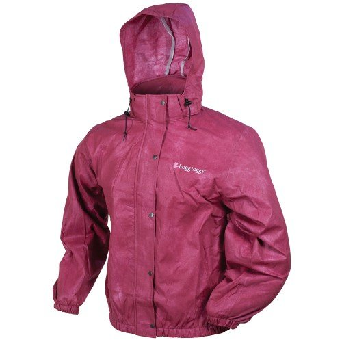 Frogg Toggs Pro Action Womens Rain Jacket, Distinct Name: Cherry, Gender: Womens, Primary Color: Pink, Size: Lg