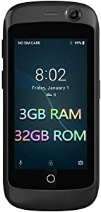 Unihertz Jelly Pro 3GB+32GB, The Smallest 4G Smartphone in The World, Android 8.1 Oreo Unlocked Smart Phone, Black