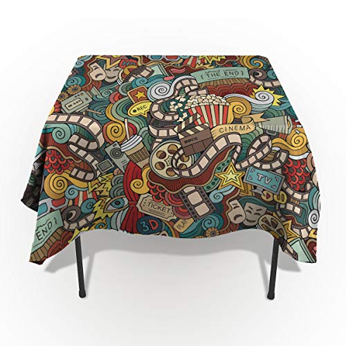 Fantasy Star Rectangle Polyester Tablecloth, Movie Elements Tablecloths