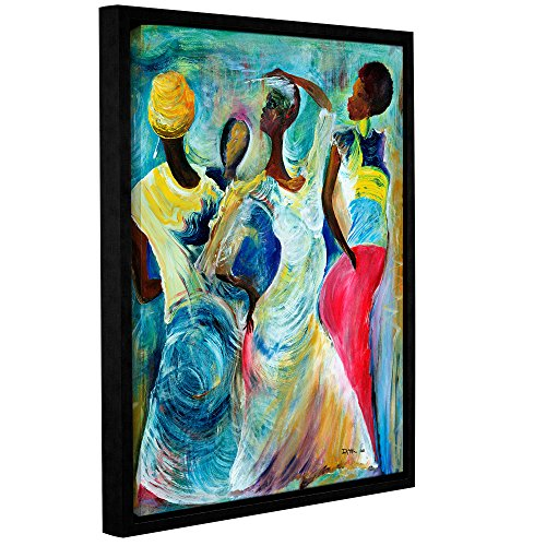 """ArtWall Ikahl Beckford's Sister Act 2002 Gallery Wrapped Floater Framed Canvas, 18 x 24"""""""