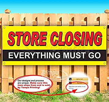 Store Closing 13 oz Banner Heavy-Duty Vinyl Single-Sided with Metal Grommets