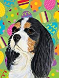 Caroline's Treasures LH9414CHF Cavalier Spaniel Easter Eggtravaganza Flag Canvas, Large, Multicolor Review
