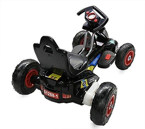 RideonToys4u 6V Electric Go Kart With Air Rubber Wheels 3KM/H Black Ages 3-8 by Rideontoys4u (Image #1)