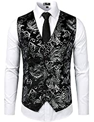 Men's Metallic Single Breast Waistcoat