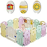 Baby Playpen Playard for Babies Infants Toddler 14/18 Panels Safety Kids Play Pens Indoor Baby Fence with Activity Board