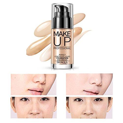 Professional Makeup Concealer Liquid Foundation Moisturizing Waterproof Concealer Cream (B) by Hometom Beauty (Image #1)