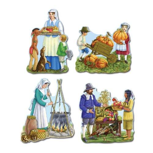 [Beistle 99136 Thanksgiving Cutouts, 16