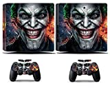 Cosines PS4 Slim Stickers Vinyl Decal Protective Console Skins Cover for Sony Playstation 4 Slim and 2 Controllers Supervillain Joker Injustice Gang