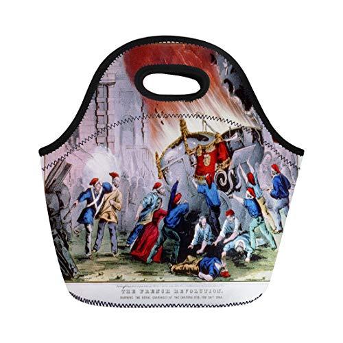 - Semtomn Lunch Bags Historical 1848 the French Revolution Burning Royal Carriages at Neoprene Lunch Bag Lunchbox Tote Bag Portable Picnic Bag Cooler Bag