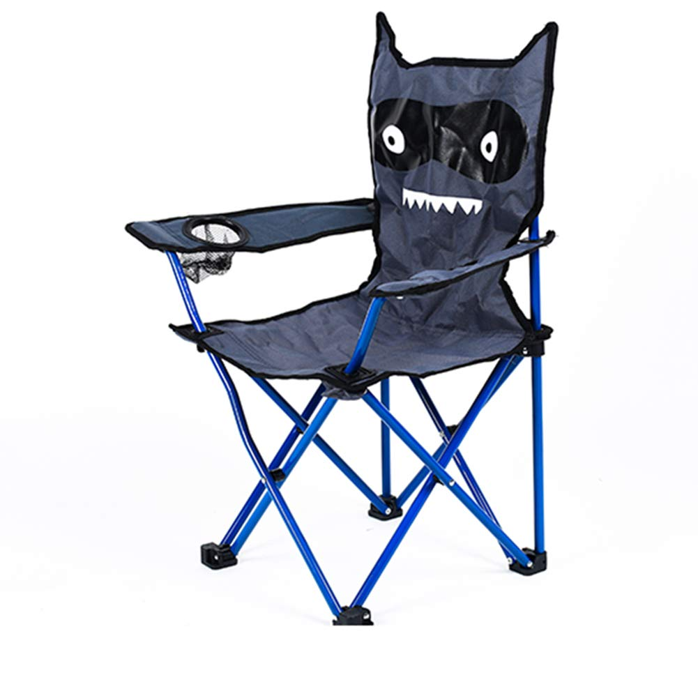 Fitlyiee Cartoon Monster Outdoor Folding Chair with Cup Holder for Kids Camping Fishing by Fitlyiee (Image #3)