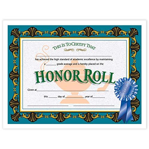 - Hayes H-VA512BN Honor Roll Certificate, 8.5