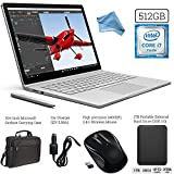 Microsoft Surface Book (512GB SSD, 16GB RAM, Intel 6th Gen Intel i7 + 1TB Portable External Hard Drive + Surface Carrying Case + Wireless Optical Mouse + Car Charger + DigitalAndMore Cloth