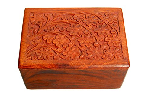 Pet Memory Shop Urn for Pets - Hand-Carved Rosewood Urn - Classic Wooden Series for Dogs, Cats, and Animals (Hand-Carved Tree of Life, Small)