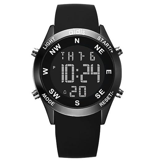 ... m Cronómetro cronógrafo Calendario Despertador Luminoso Relojes digitales Multifunción Para niños de relojes Adolescentes Junior-D: Amazon.es: Relojes