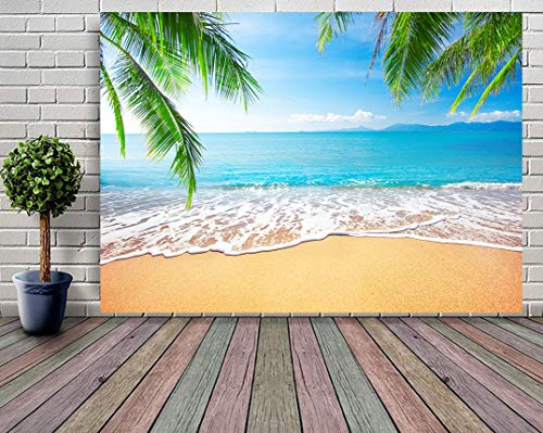 GYA Tropical Beach Background Photo Props for Studio,Wedding,Party Photography Backdrops Vinyl 9x6ft (Best 6x9 Folding Camera)